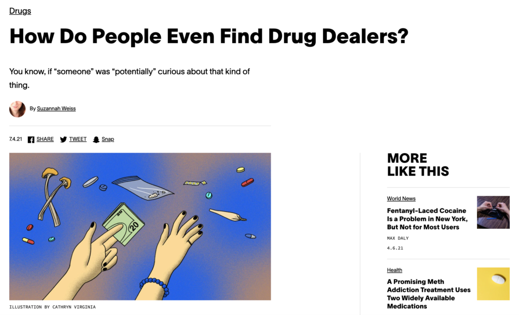 Vice Magazine features Canadian Students for Sensible Drug Policy in an article about buying drugs from drug dealers.